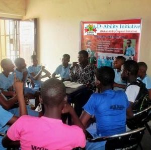 D-Ability MentorTeens Project session in progress
