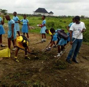 Students participate in selfless service.